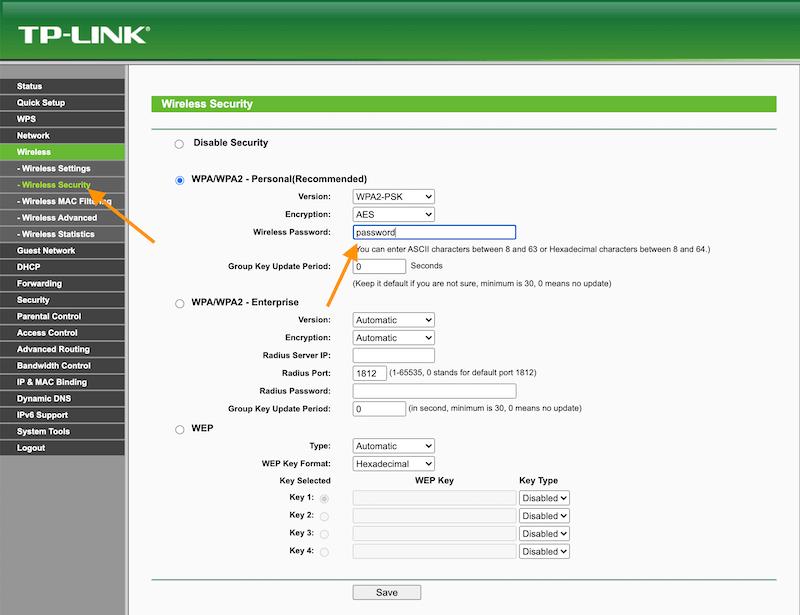 Ganti-Password-TP-Link