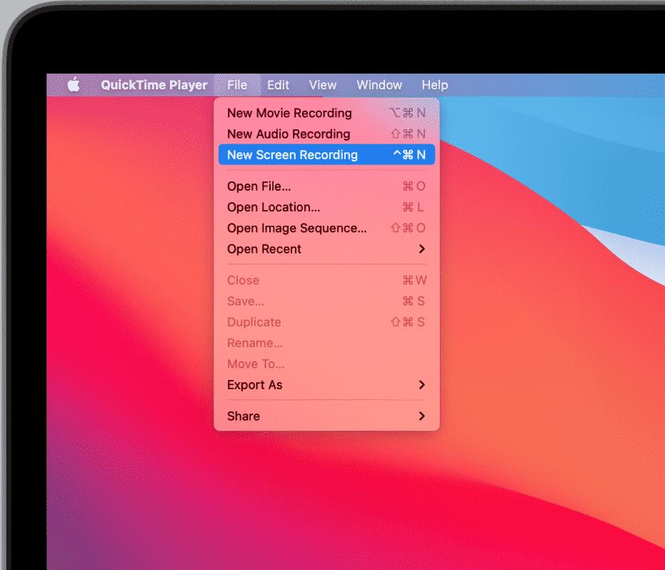 Klik-menu-File-kemudian-masuk-ke-New-Screen-Recording